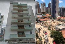 Prédio de sete andares desaba em Fortaleza. Corpo de Bombeiros já confirmou vítimas fatais