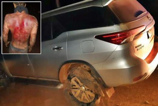 Vídeo mostra sequestrador de padre tomando surra de corda nylon até sangrar