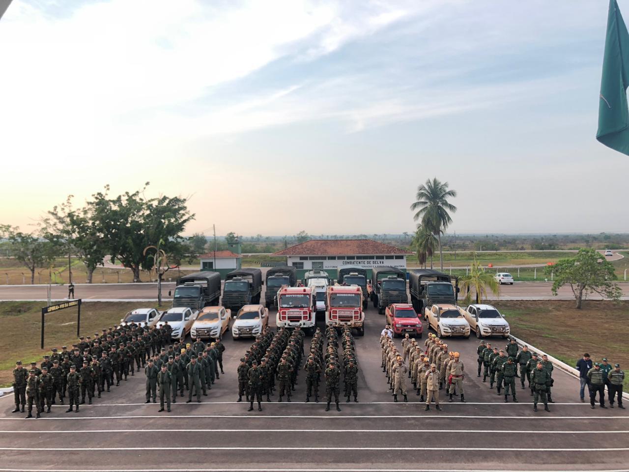 Exército, Batalhão Ambiental e Corpo de Bombeiros / Foto : Divulgação