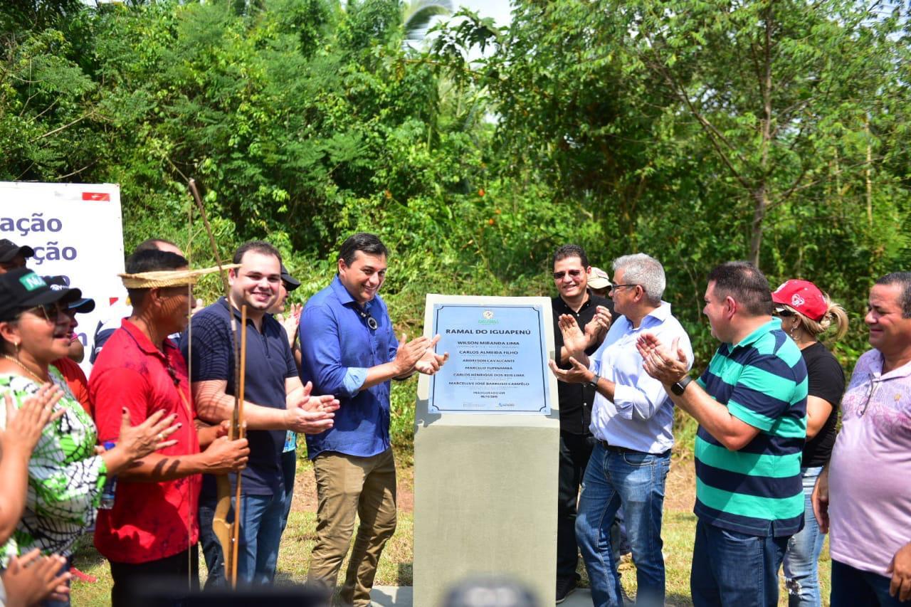 Wilson Lima inaugura dois importantes ramais em Autazes e anuncia conclusão de mais quatro até o fim do ano / Diego Peres / SECOM