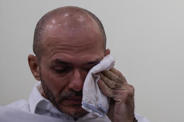Delegado Gustavo Sotero chorou que nem criança durante o julgamento (Foto: Divulgação)