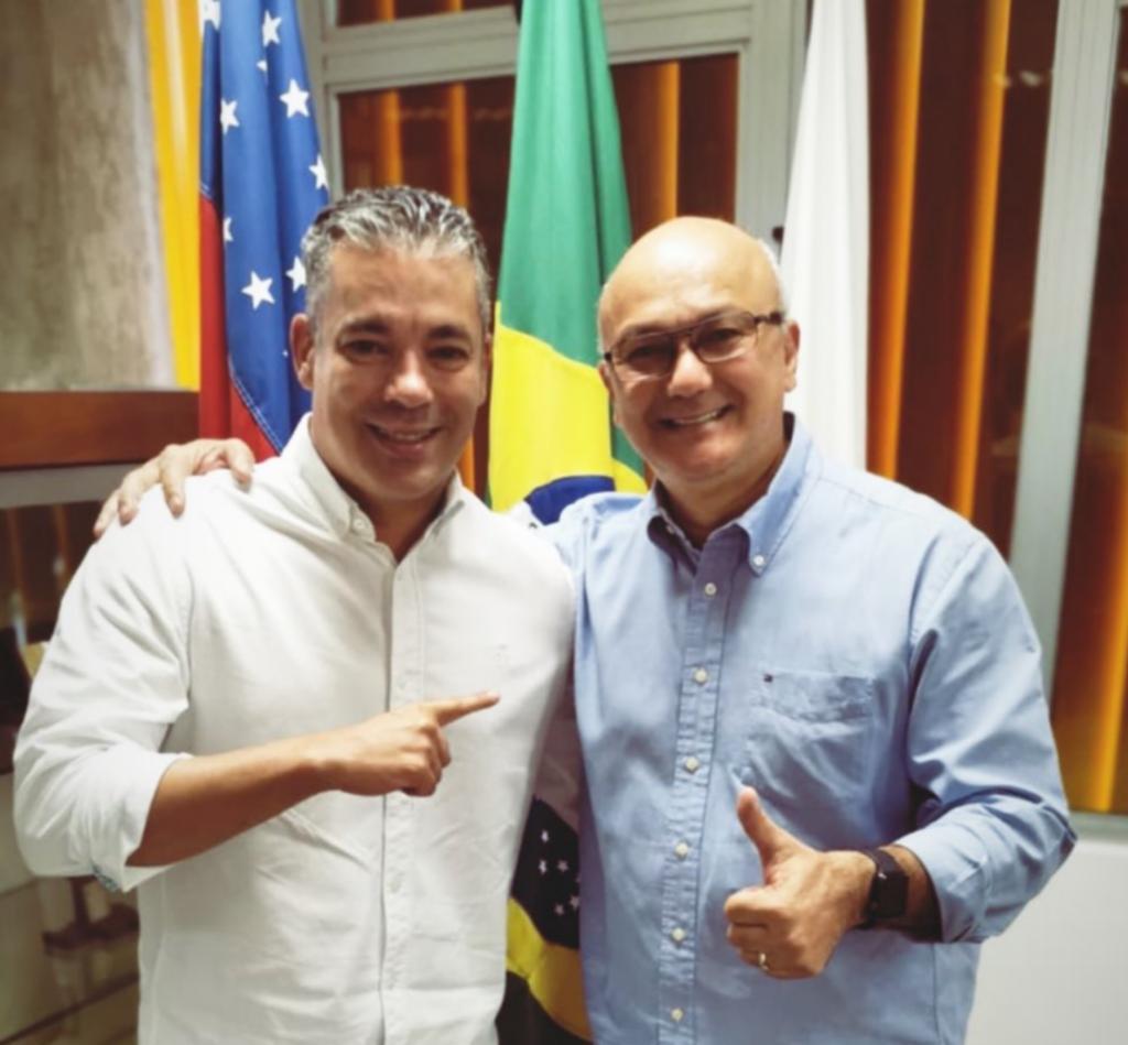 Aliados de Bolsonaro, superintendente da Suframa e presidente da Aleam intensificam parceria em prol do AM / Foto : Divulgação