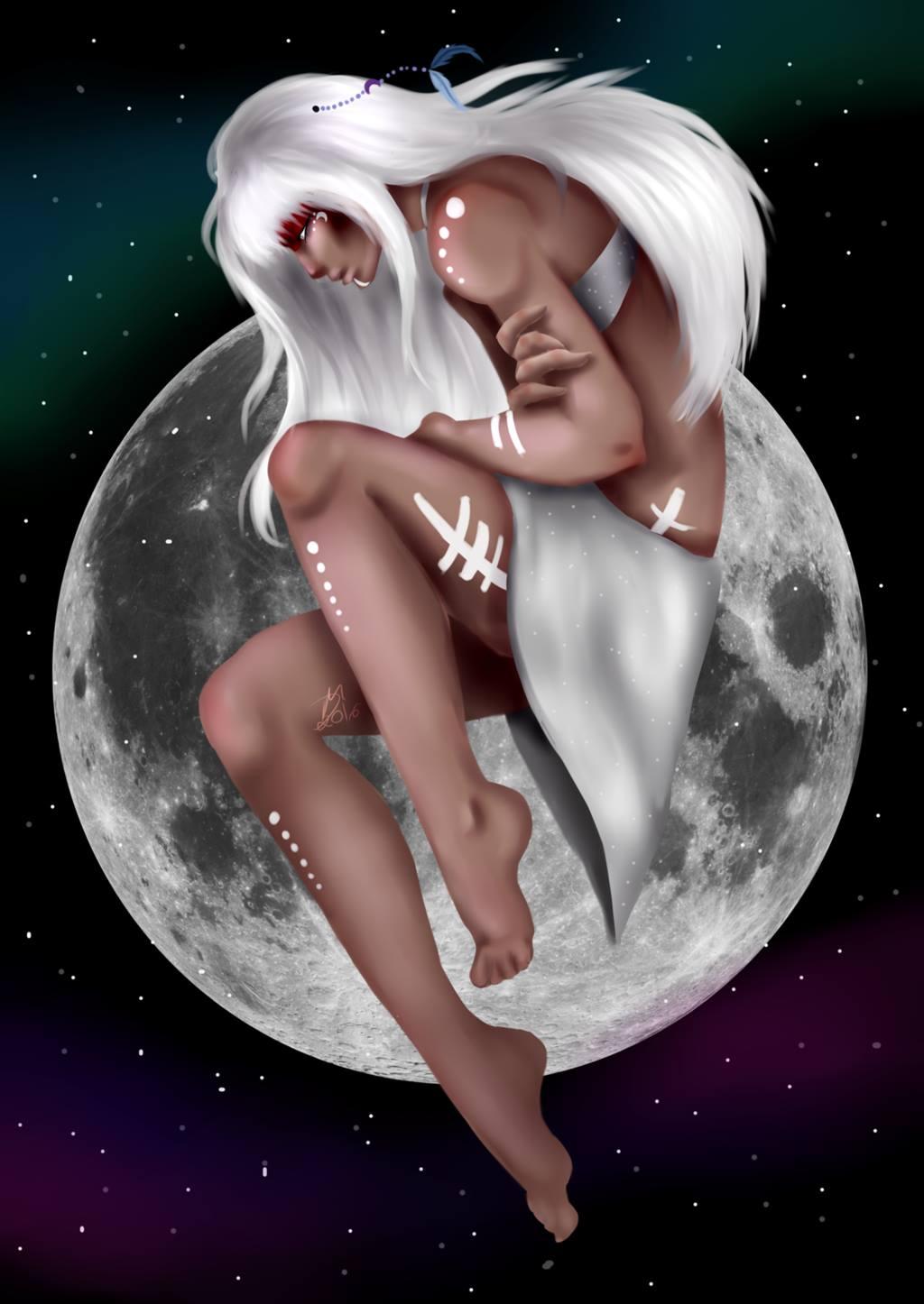 Jaci, a deusa da Lua
