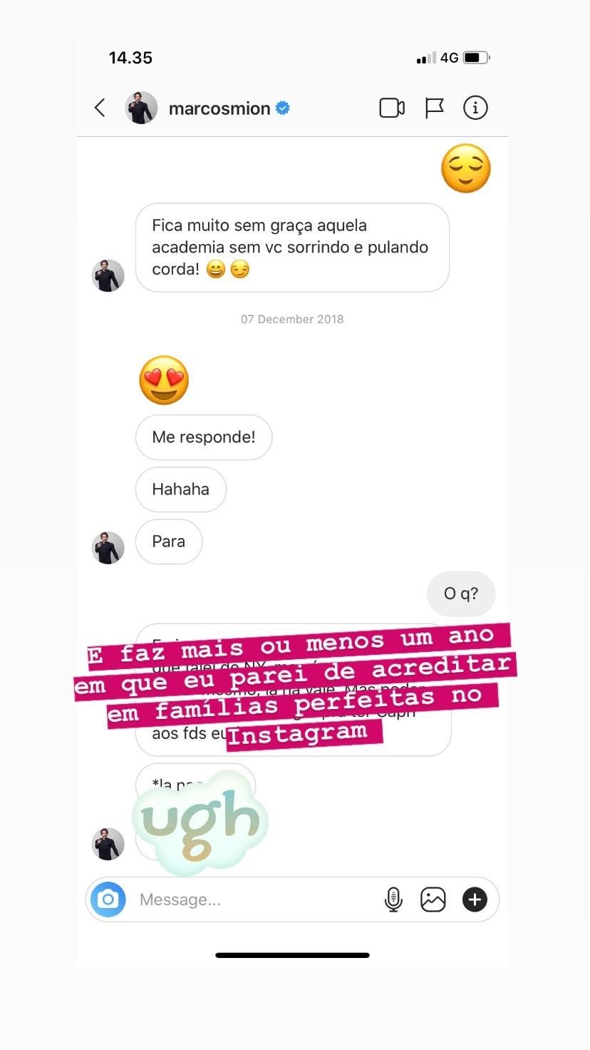 Post da Ana Carolina Jorge acusando Marcos Mion de assédio / Reprodução Instagram