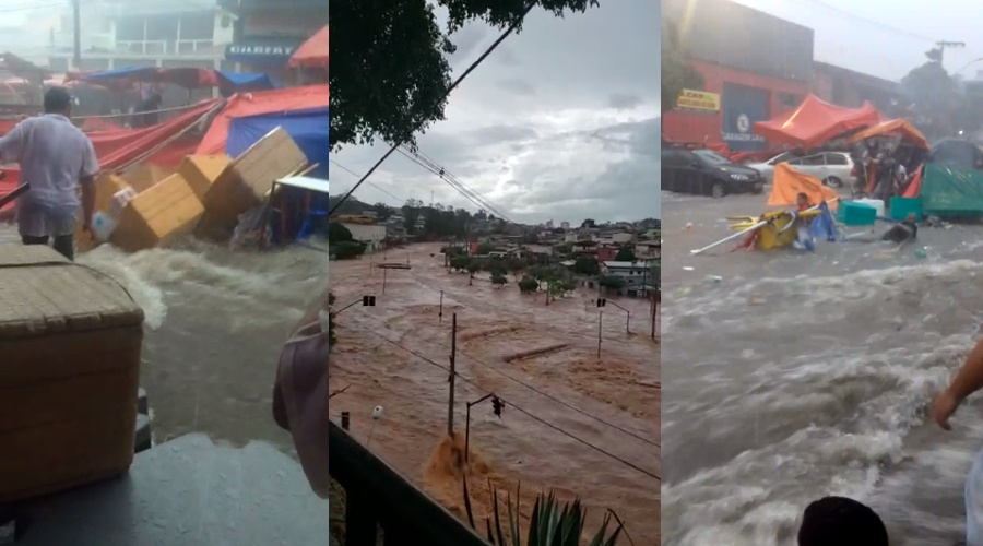 Vídeos impressionantes mostram a força da enchente em Contagem - MG