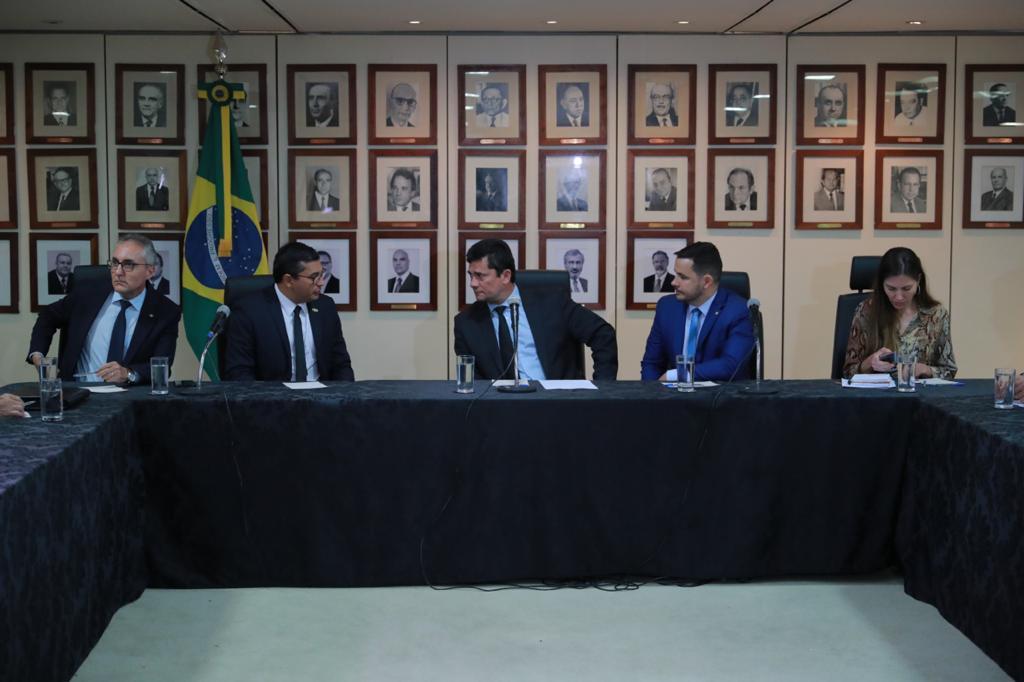 Wilson Lima reforça interlocução com ministro Sergio Moro no combate ao crime organizado no Amazonas / Foto: Diego Peres/Secom