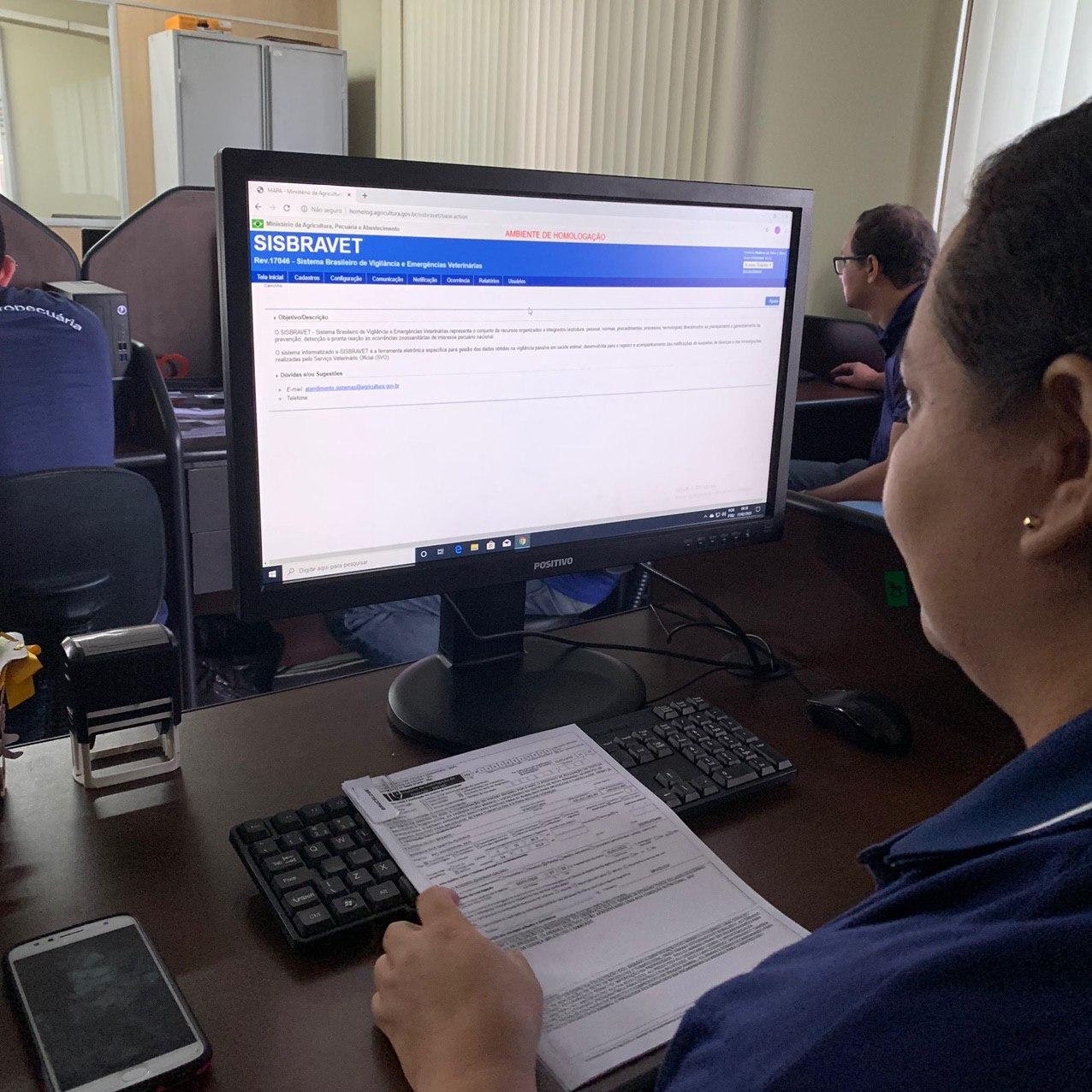 Adaf realiza capacitação da primeira turma no Sistema Brasileiro de Vigilância e Emergências Veterinárias / Foto: Divulgação/Adaf