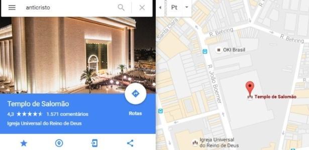 Imagem: Reprodução/Google Maps