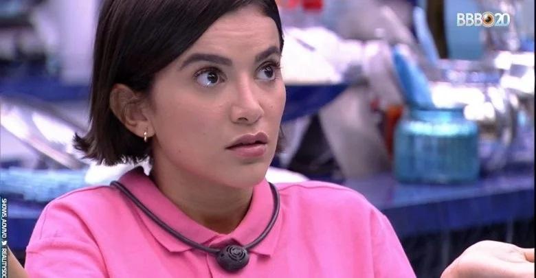 A estrela, Manu Gavassi, quebrou uma das regras ao falar sobre política e criticar Jair Bolsonaro (Foto: Reprodução / TV Globo)