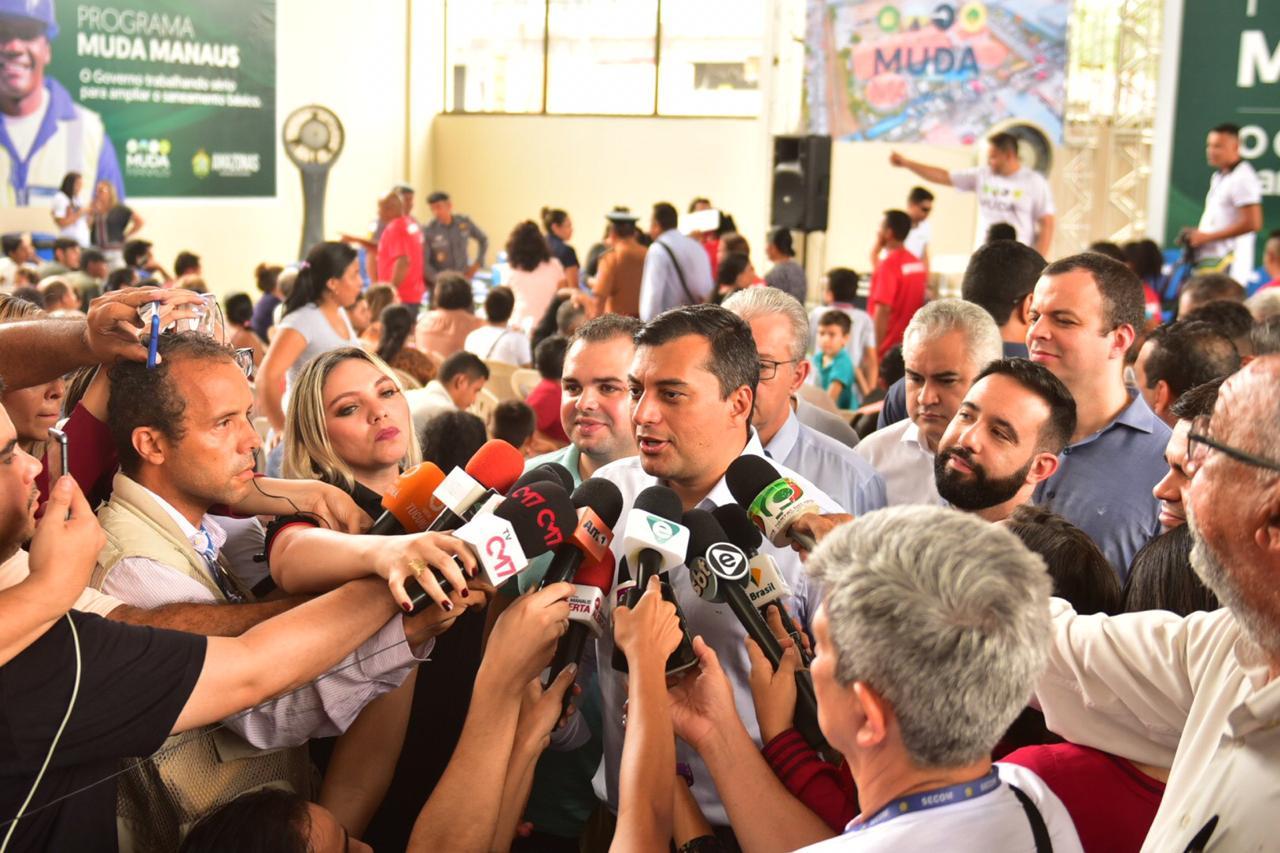 Wilson Lima confirma vinda do presidente do Senado a Manaus para discutir modelo Zona Franca / Bruno Zanardo / Secom