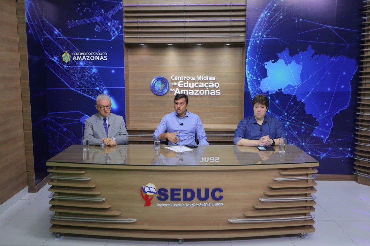 Wilson Lima anuncia parceria com Governo de São Paulo e 'Aula em Casa' será transmitido a 3,5 milhões de alunos paulistas / Foto: Divulgação/Secom