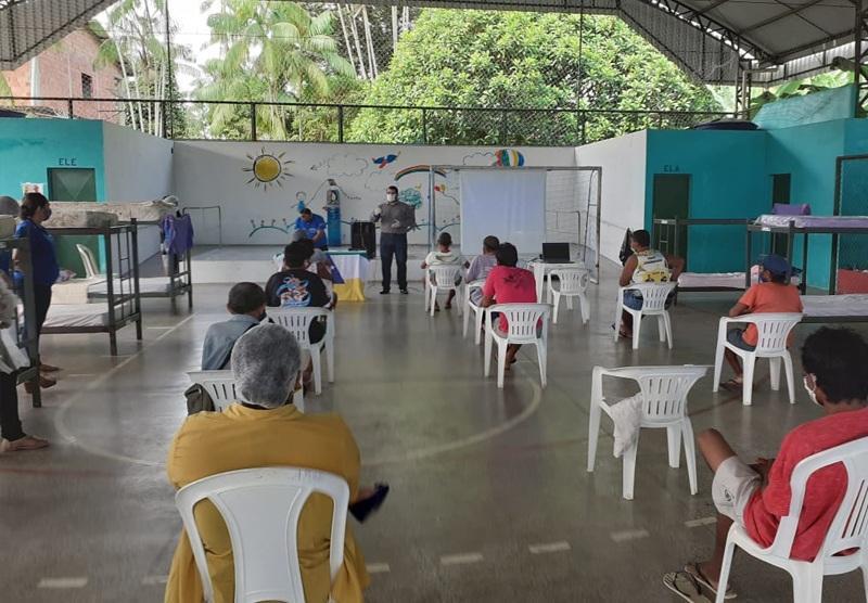 Prefeitura de Tefé realiza projeto social voltado à prevenção do Covid-19 entre pessoas em situação de rua / Foto : Divulgação