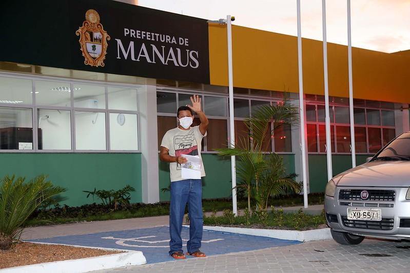 Mais 5 pacientes recebem alta do Hospital de Campanha Municipal Gilberto Novaes / Foto : Mário Oliveira /Semcom