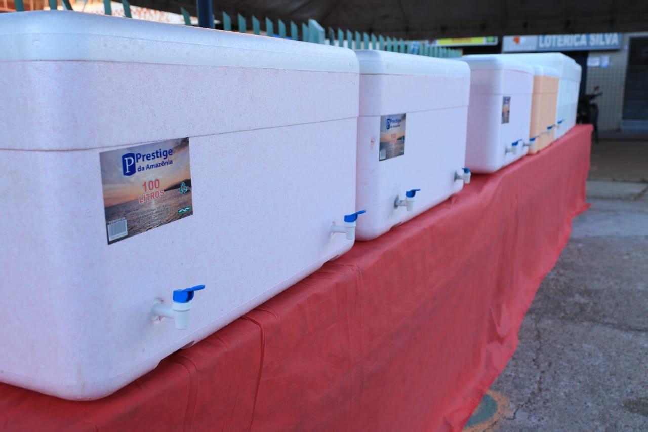 Prefeitura de Barreirinha dispõe estrutura humanizada durante pagamento de programas sociais / Foto : Divulgação