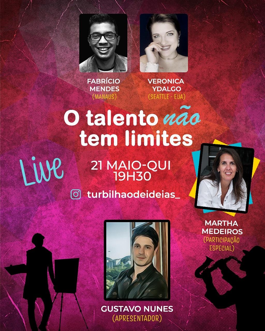 Artista Amazonense Fabrício Mendes se apresenta para todo o Brasil no Projeto Nacional de arte realizado por produtora do Rio de Janeiro.