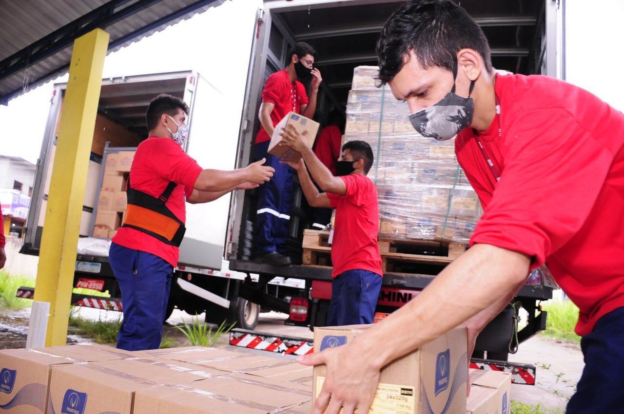 Governo do Amazonas inicia distribuição de 223 mil kits do 'Merenda em Casa' para municípios do interior / Foto : Cleudilon Passarinho/Seduc-AM