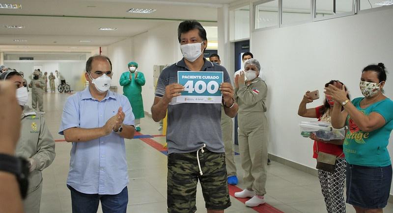 Hospital de campanha municipal Gilberto Novaes / Fotos – Márcio James / Semcom e Ingrid Anne / HCM