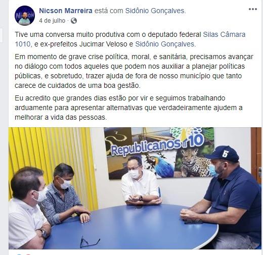 Pré-candidato a Prefeito de Tefé Nickson Marreira / Divulgação