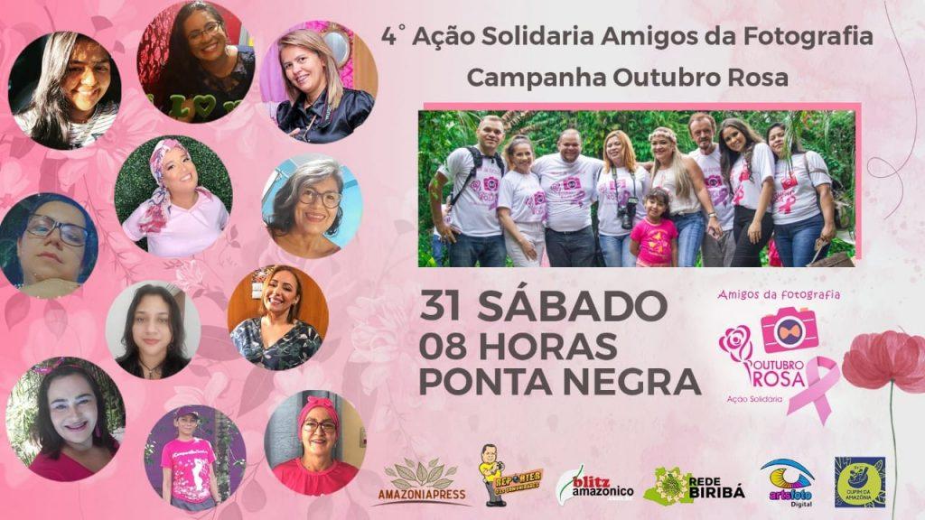Jornalista vai fotografar mulheres que enfrentam o câncer de mama na Ponta Negra, em ManausAção será realizada no sábado (31/10), a partir das 8h.