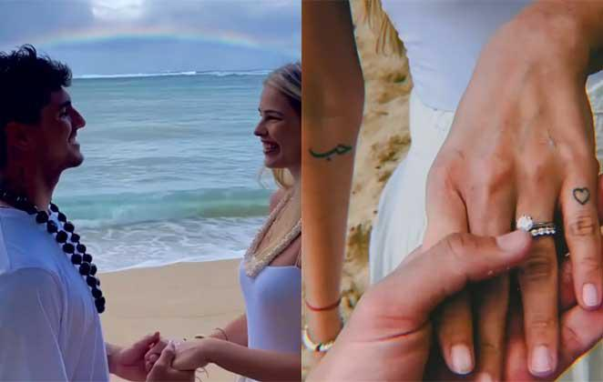 Divulgado bastidores do casamento de Gabriel Medina e Yasmin Brunet no Havaí!