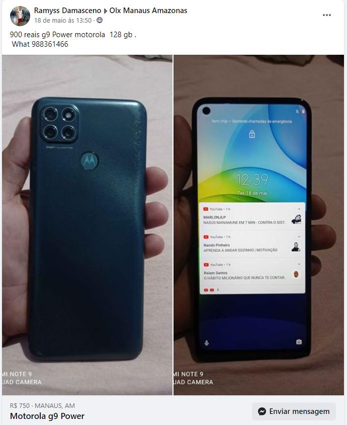 Homem combina venda de celular pela internet e ao chegar no local criminosos roubaram o aparelho e dispararam contra ele no Mutirão